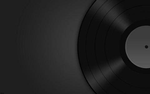 黑暗,板,音乐,乙烯基,背景