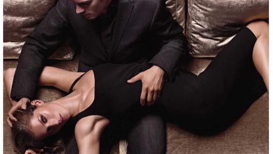 手,黑色礼服,激情