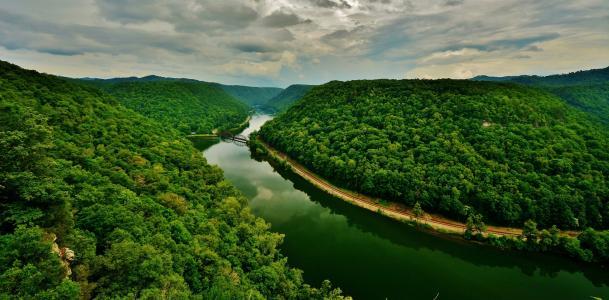 河,景观,森林,性质,铁路