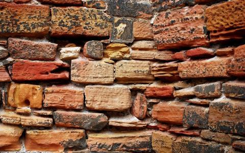 砖,背景,墙上