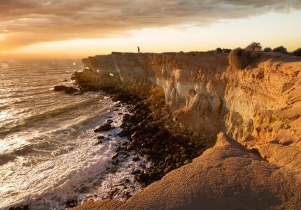 童话国家,海岸,悬崖,石头,海,冲浪
