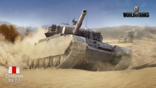 坦克,百夫长,美国人,沙漠