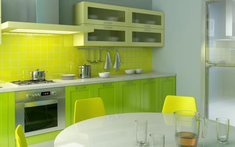 厨房,公寓,设计,室内,风格,房间
