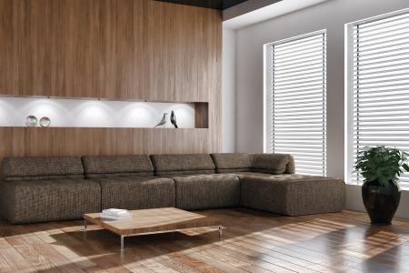 表,窗口,沙发,实木复合地板,植物,小雕像