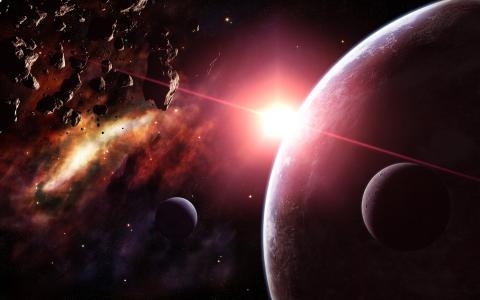 星星,小行星,行星