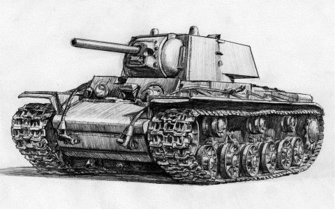 Kv,坦克,绘图,苏联,重型坦克,kv-1