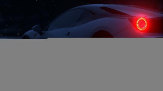 法拉利,超级跑车,黑暗的背景,下雨