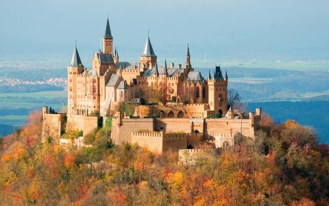 德国,城堡,美丽,德国的城堡