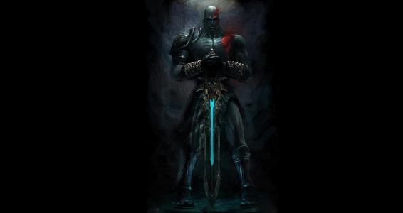 战争之神,克瑞托斯,奥林匹斯之剑,战神,奎托斯,锁链,纹身,纹身,黑色