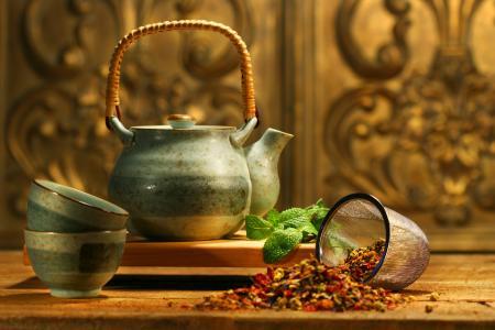 亚洲茶,茶壶,薄荷,香味,补品