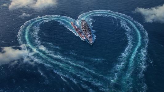 海,船,武器,幻想,心脏