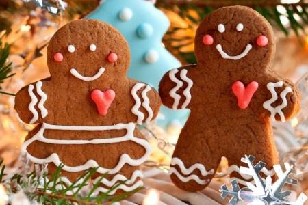 饼干,小雕像,小人物,糕点,新年,糖果,饼干,食物,假期,圣诞节,新年,圣诞节,新年,冬天