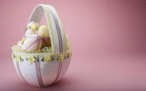 篮子,蛋,复活节