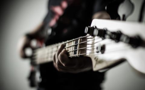 背景,音乐,吉他