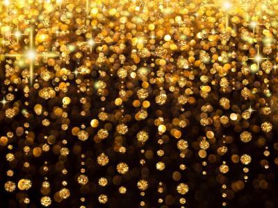 假日,闪耀,背景,黄金,雨