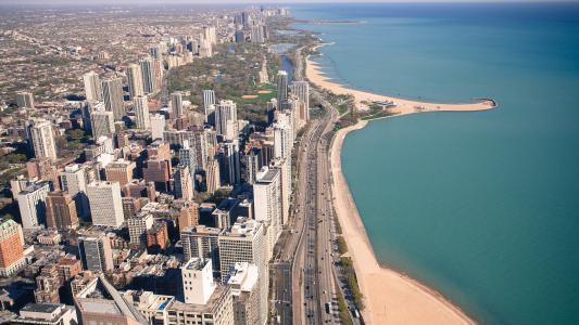 伊利诺伊州,美国,芝加哥,道路,城市,芝加哥,伊利诺伊州,美国