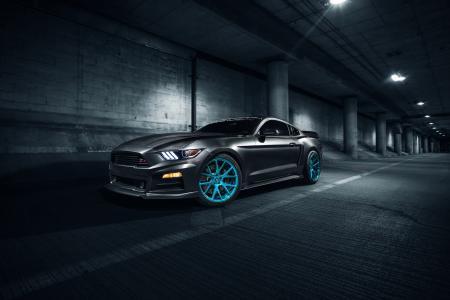福特,调整,超级跑车,灰色背景,停车