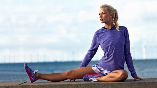 健身,运动鞋,模型,构成,海洋