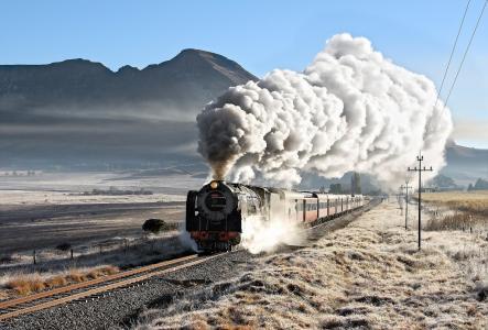 火车,火车,火车,火车,路,道路,自然,秋季,山,美丽,白霜
