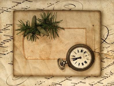 颠簸,包,酿酒,时钟,纸,复古,复古