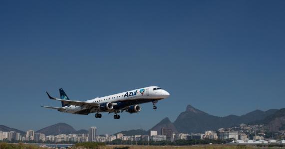 飞机,着陆,机场,巴西