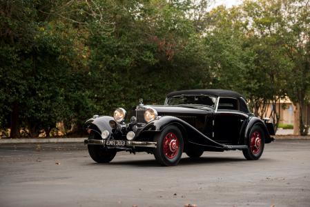 梅赛德斯 - 奔驰,复古,1935年,敞蓬车,黑色