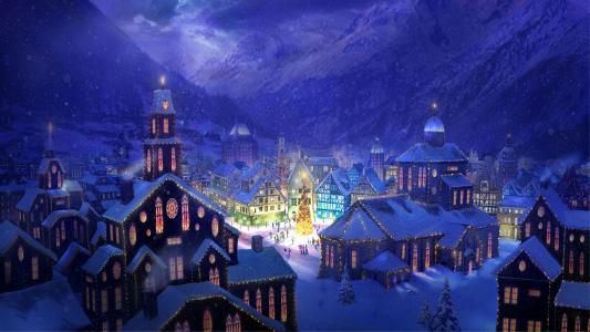 新年,2013,vipdelux,冬季,雪,霜,白霜,圣诞树,森林,花环,圣诞老人,雪姑娘