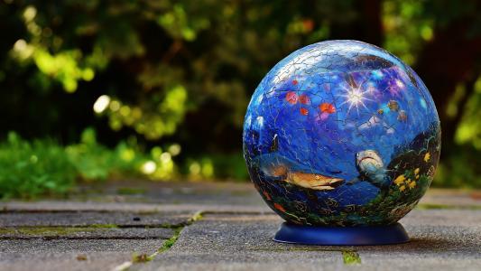 球,谜题,水下世界,绘图