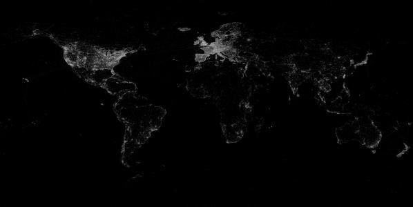 地图,世界,黑色和白色背景,3D,主题