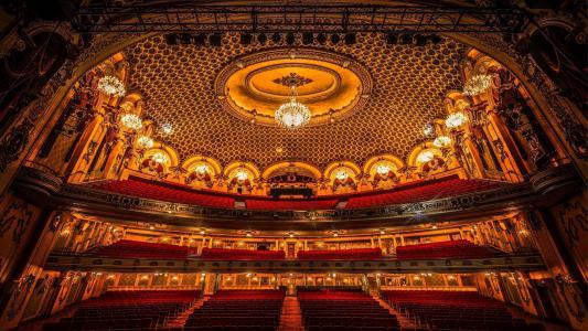 歌剧,戏剧,大厅,舞台,吊灯