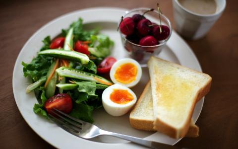 背景,早餐,食物