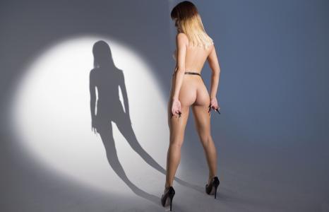 女孩,阴影