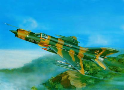 多用途,苏联,mig-21mf,艺术,米格-21mph,飞机