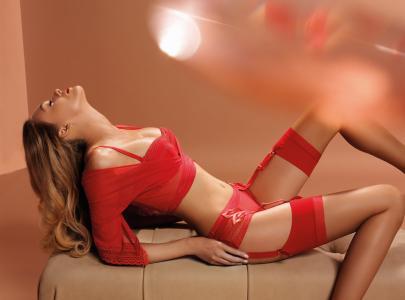 Kjell Bracke,红色,内衣,丝袜