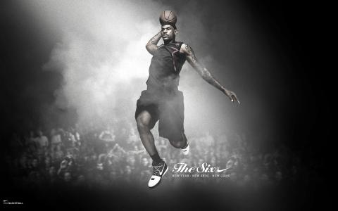 勒布朗,耐克,篮球运动员,詹姆斯,跳,球
