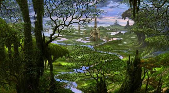ucchiey,幻想,城堡,Kazamasa uchio,童话,风景,kazamasa uchio,日本