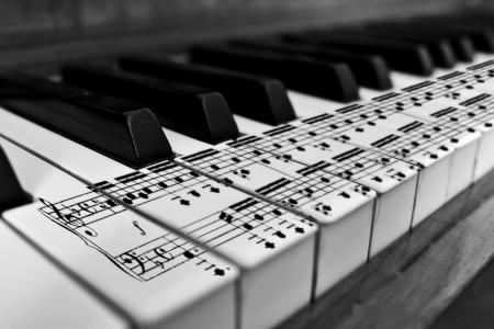 笔记,黑色和白色,钢琴,钥匙,Karl683