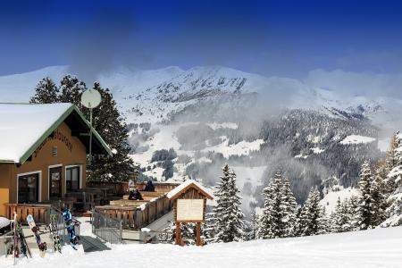 度假村,山,查看,冬季