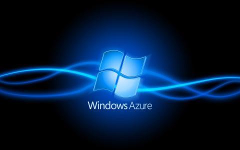 窗口天蓝色,蓝色激光,标志