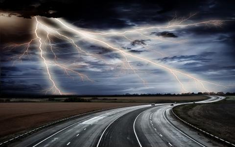 雷暴,自然。