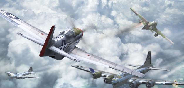 战斗机,空战,喷气猎人,飞机,打击乐