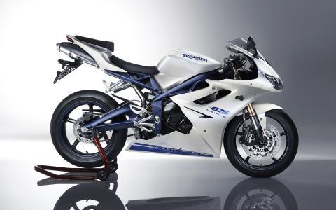 代托纳,凯旋,白色,摩托车