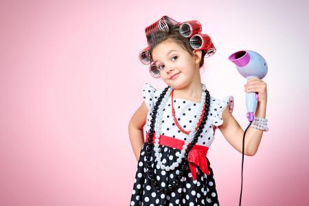装饰品,彩色,背景,女孩,裙子,看,孩子们