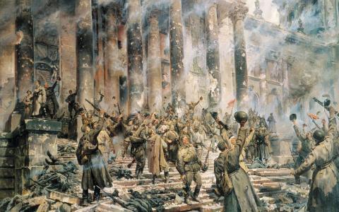 伟大的胜利,绘画,欢乐合唱团,士兵,国会大厦