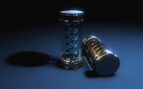 病毒,玻璃,图形,3d,烧瓶