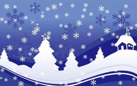 假期,新的一年,毛皮树,新的一年