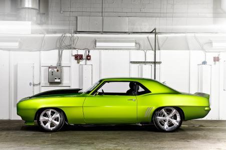 雪佛兰,独轮车,汽车,绿色,乘坐绿色怪物31