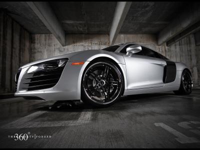 奥迪R8,运动,银色