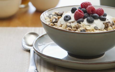 麦片覆盆子,食品,早餐,葡萄干,蓝莓,甜