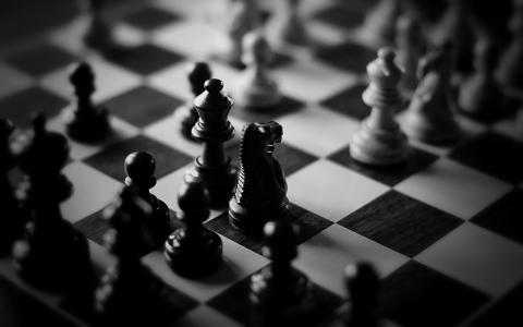 黑色,白色,国际象棋